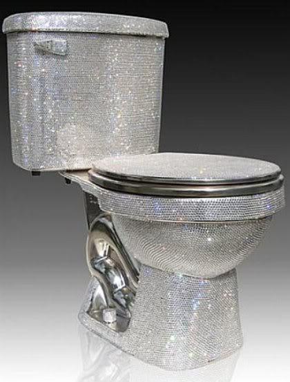 Swarovski-Studded Toilet